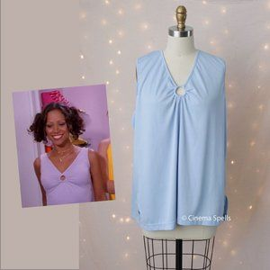 Inspired By:Dionne Clueless TV Plus 2X Blue Top